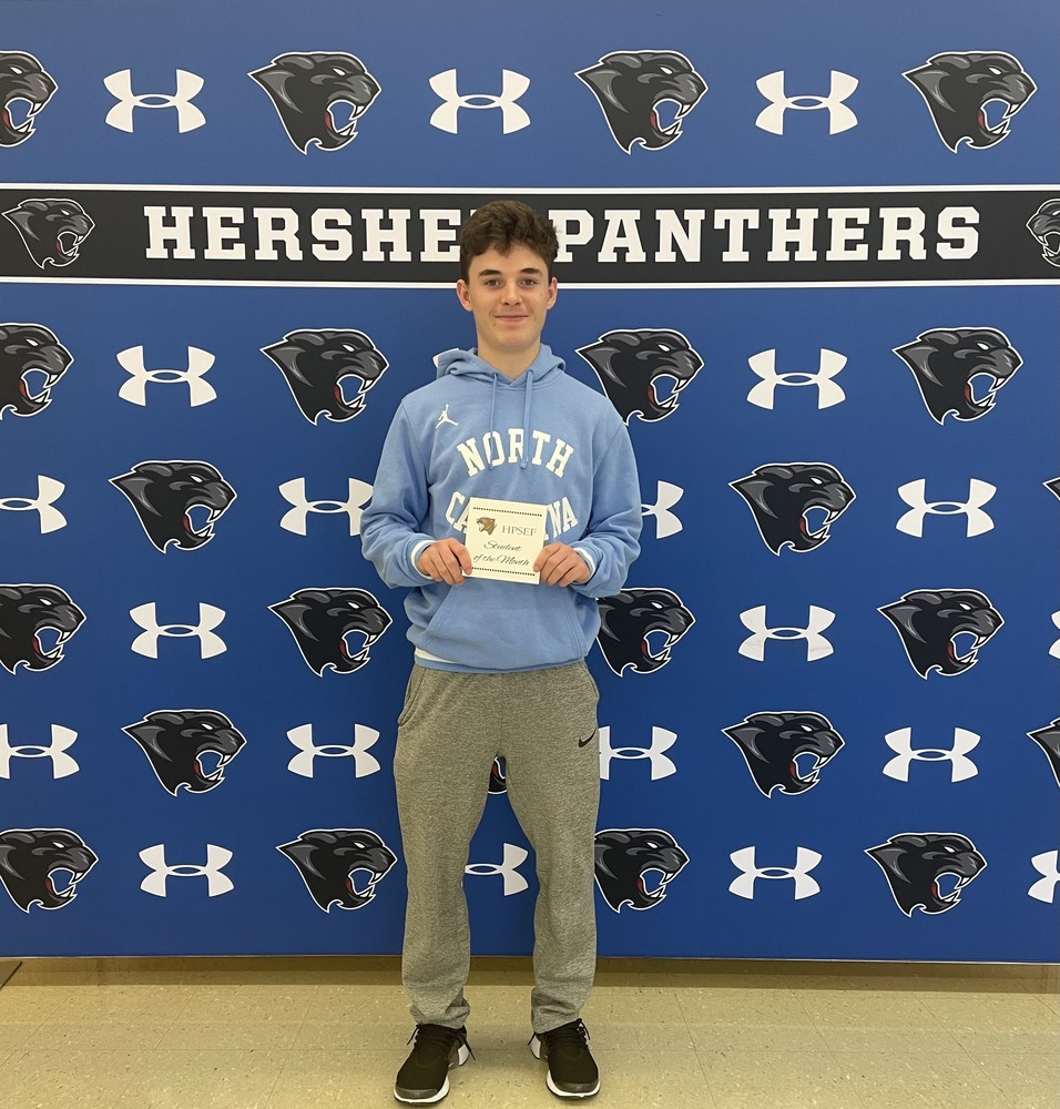 Cayden Spearman - Hershey Foundation February Student of the Month