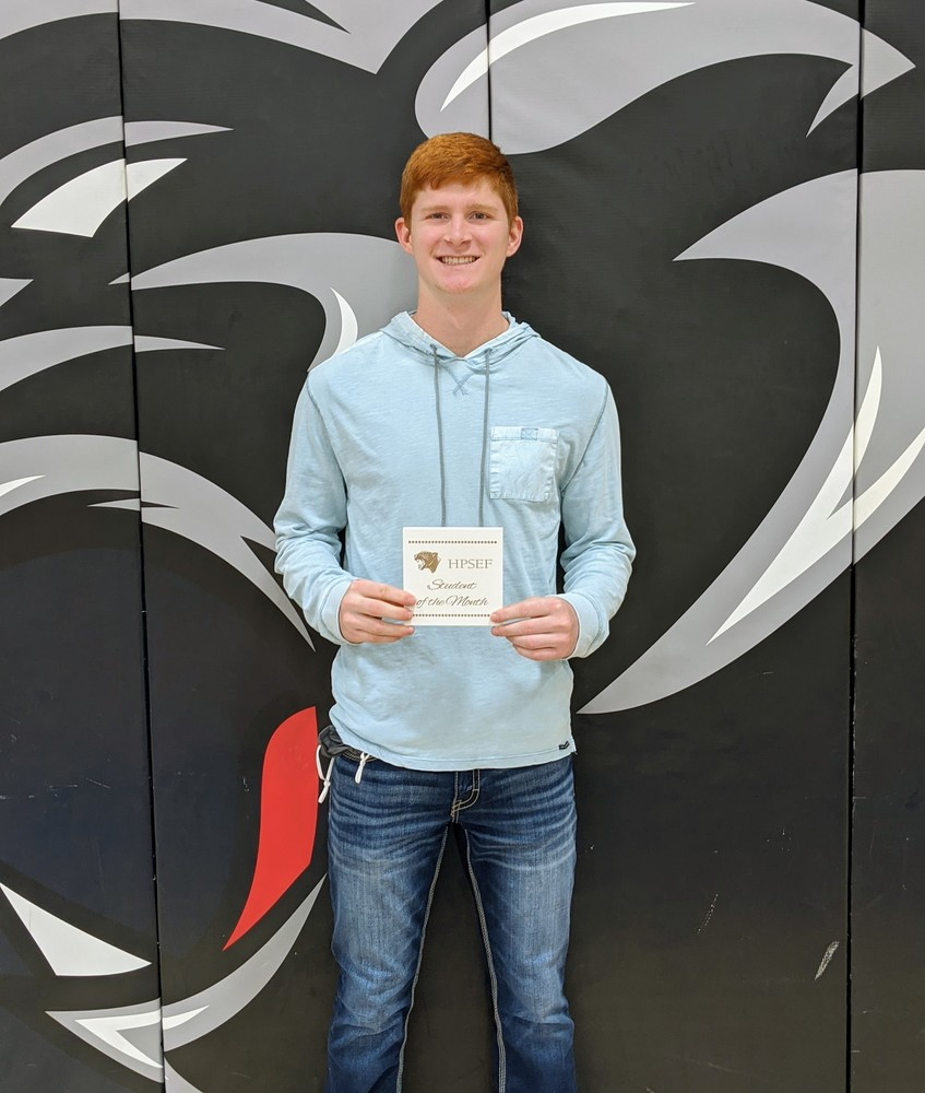 Eli McConnell- Hershey Foundation November Student of the Month