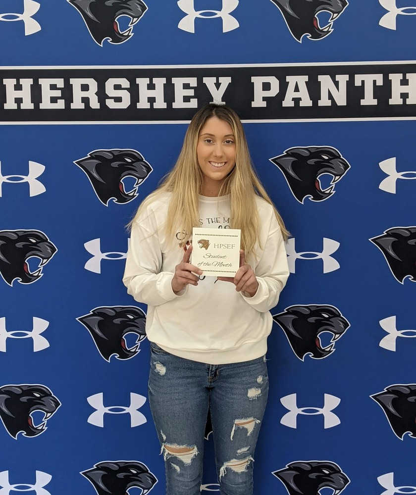 Shayla McConnell- Hershey Foundation January Student of the Month