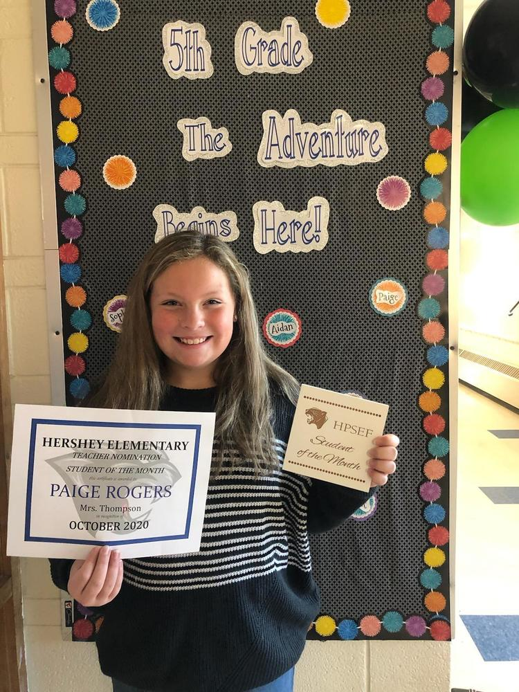 Paige Rogers - HPSEF October Student of the Month