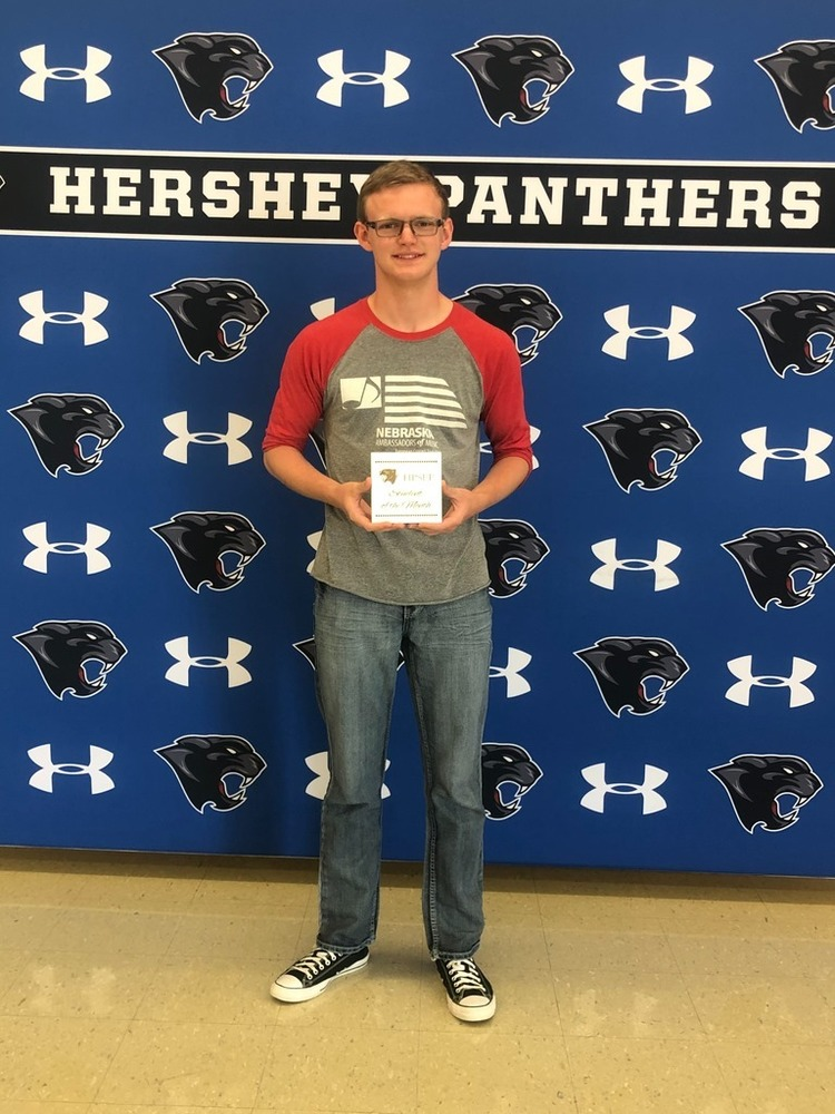 Reace Anderson- Hershey Foundation August Student of the Month